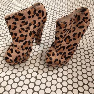 SENSO leopard pony hair heels